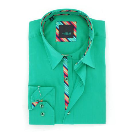 Solid Sateen Shirt // Green (S)