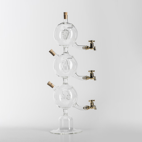Decanter // Triple Decanter with Fruit