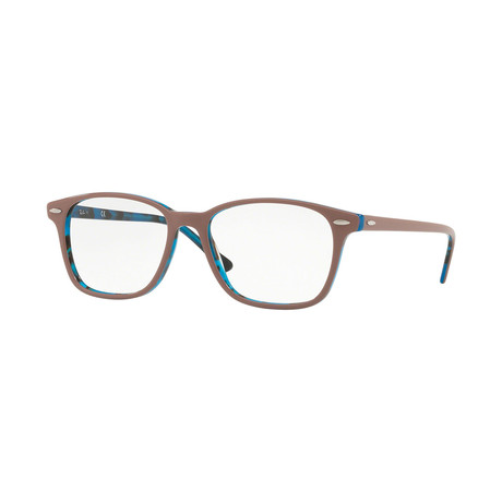 Men's 0RX7119 Rectangle Optical Frames // Light Brown + Havana Blue