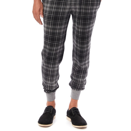 Eco-Fleece Dodgeball Pant // Gray Plaid (S)