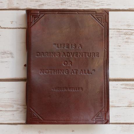 Handmade Leather Journal // Daring Adventure (Brown)