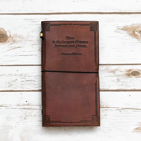 Handmade Leather Journal // Tennesee William's Traveler's Journal