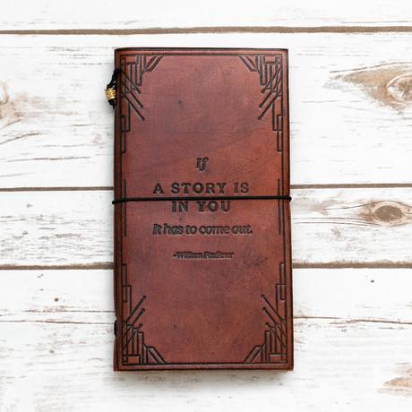 Handmade Leather Journal // William Faulkner Traveler's Journal