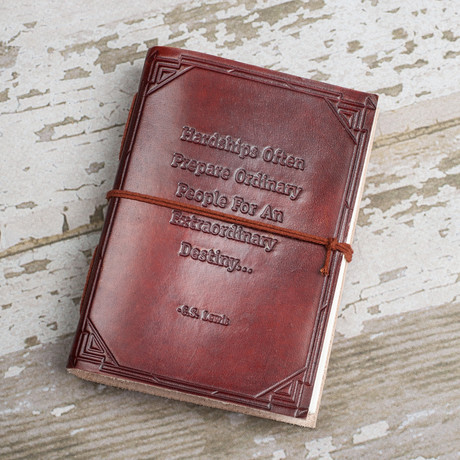 Handmade Leather Journal // Hardship And Extraordinary Journey (Brown)