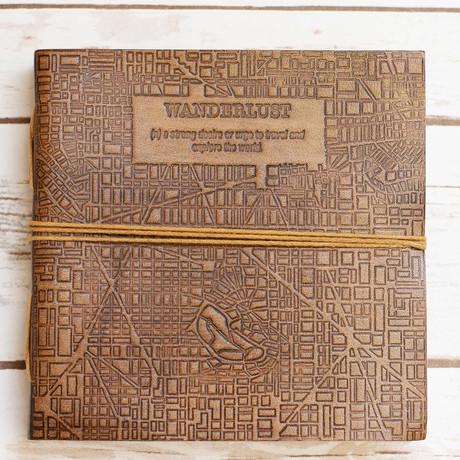 Handmade Leather Journal // Wanderlust