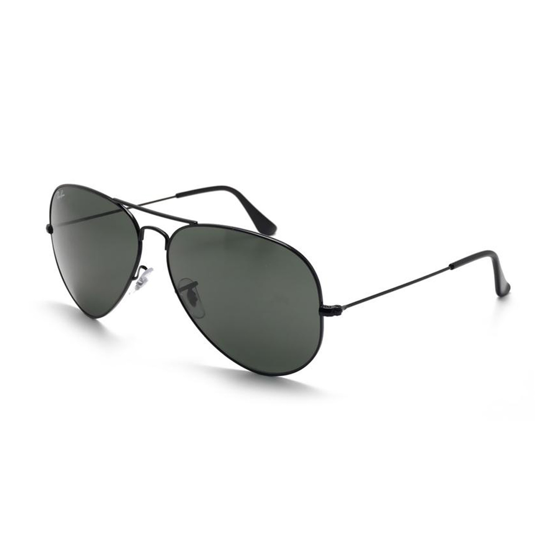 Aviator Sunglasses II // Black + Green