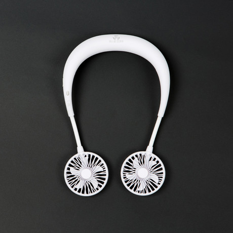 Blueberry Neck Band Fan NF5 (White)