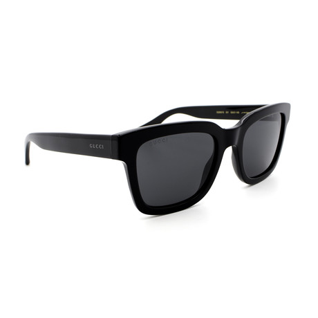 Men's GG0001S-001 Square Sunglasses // Shiny Black + Gray