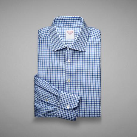 Travel Tattersall Check Shirt // Blue + White (US: 13L)