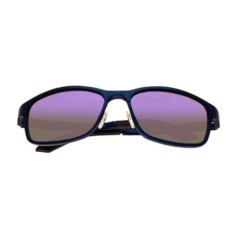 Hydra Polarized Sunglasses (Blue Frame + Purple Lens)