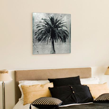 L.A. Dream // Frameless Reverse Printed Tempered Art Glass with Silver Leaf (L.A. Dream I)