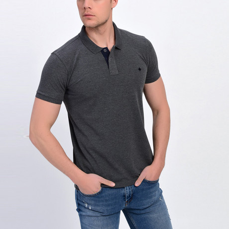 Ross Short Sleeve Polo // Anthracite (S)
