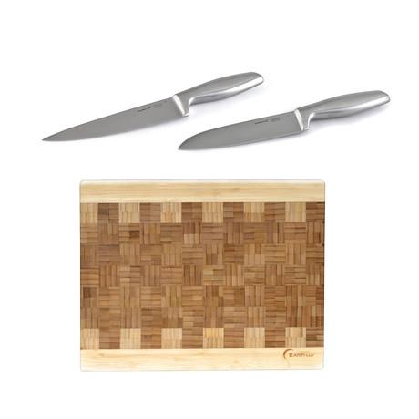 Geminis // Cutlery & Board// 3 Piece Set