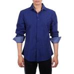 Malek Long Sleeve Button Up Shirt // Navy (XS)