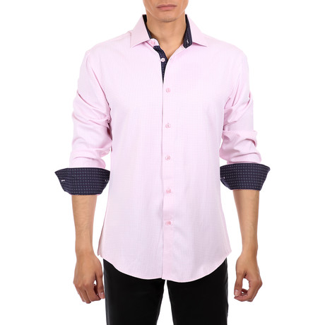 Mason Long-Sleeve Button-Up Shirt // Pink (S)