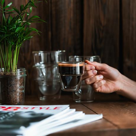 SENSO // 6-Piece Espresso Double-Wall Glass // 150mL