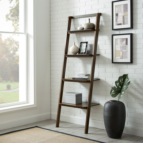 Currant Leaning Bookshelf (Black Walnut)