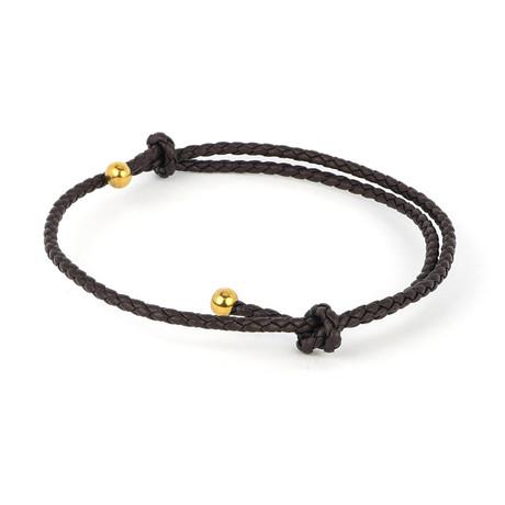 Jean Claude Jewelry // Double Wrap Bracelet // Dark Brown + Gold