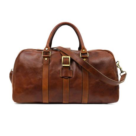 Tender Is The Night // Leather Weekend Bag // Brown