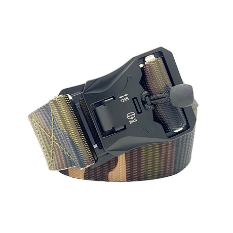 Frag Tactical Quick Release Belt // Green Camo