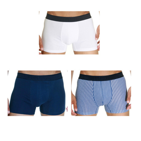 Canyon Boxer // Navy + White // Pack of 3 (Small)