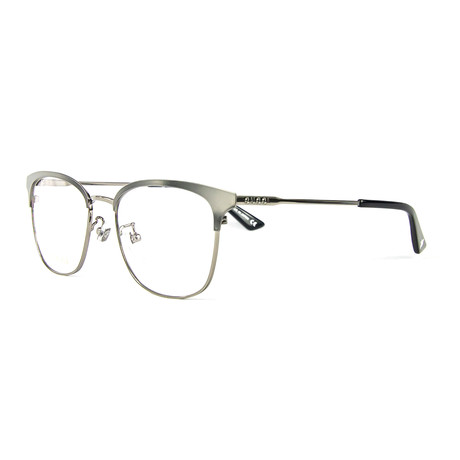 Unisex 0413OK Rectangular Optical Frames // Ruthenium