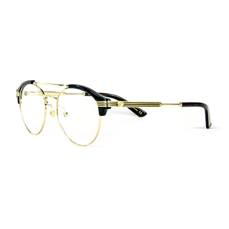 Men's 0289O Round Optical Frames // Black