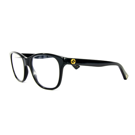 Women's 0166O005 Rectangular Optical Glasses // Black
