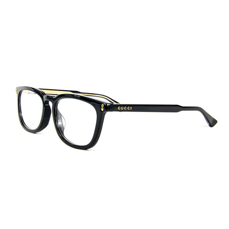 Unisex 0126OA Rectangular Optical Glasses // Black