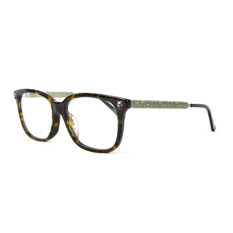 Women's 0218OA Rectangular Optical Frames // Havana + Silver