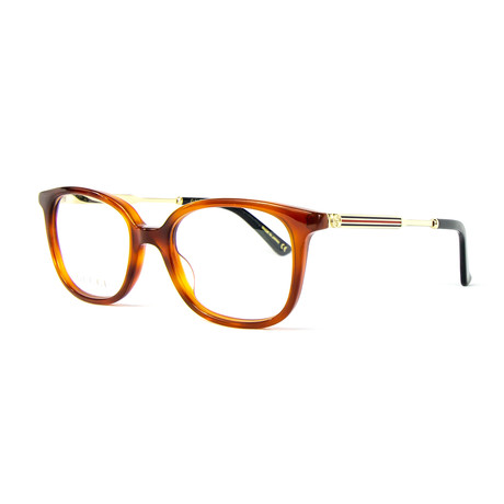 Unisex 0202O Rectangular Optical Frames // Havana