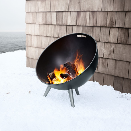 FireGlobe Fireplace // Black