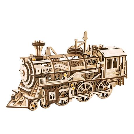 DIY Mechanical Gear 3D Wooden Puzzle // Locomotive