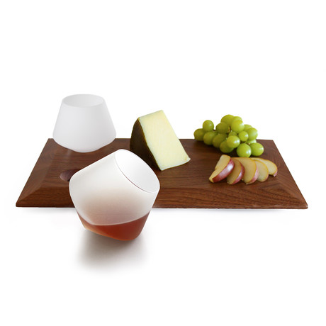 Whiskey Cheese Board Set // Frosted