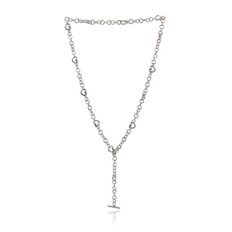 Crivelli 18k White Gold Drop Necklace