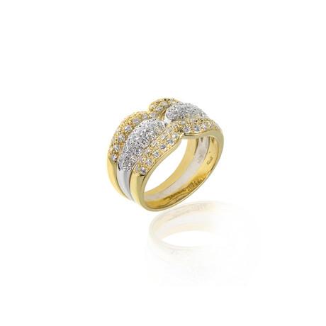Crivelli 18k Two-Tone Gold Diamond Ring // Ring Size: 6.75