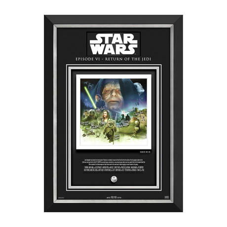Return Of The Jedi // Limited Edition Display 183/183 // Etched Facsimile Signatures