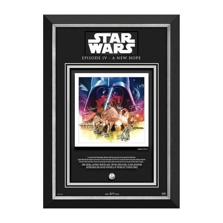 Star Wars A New Hope // Limited Edition Photo Display // Facsimile Signatures