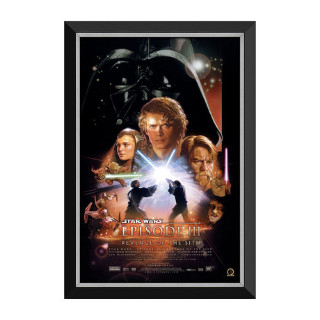 Star Wars Ep III Revenge Of The Sith // Vintage Movie Poster // Framed Canvas