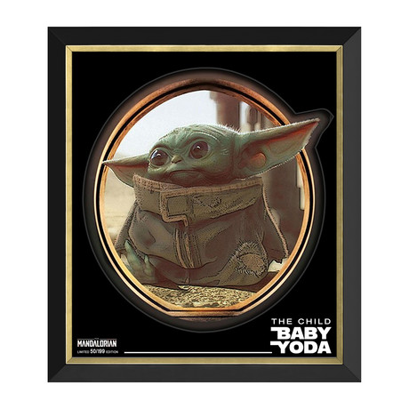 Baby Yoda // The Child From The Mandalorian // Limited Edition Framed Print
