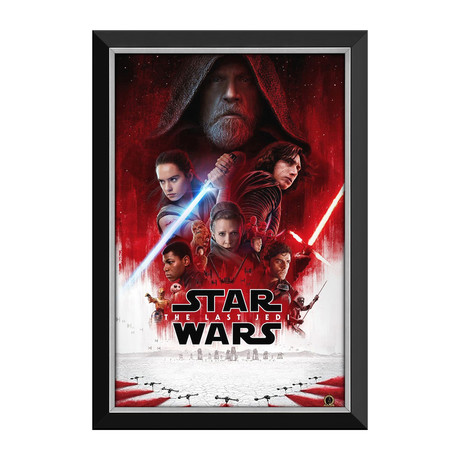 Star Wars Ep VIII The Last Jedi // Official Movie Poster // Framed Canvas