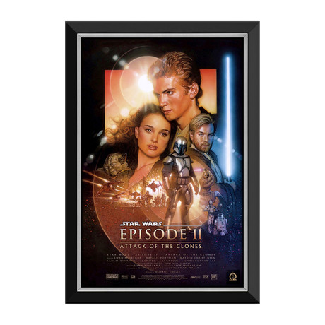 Star Wars Ep II Attack Of The Clones // Vintage Movie Poster // Framed Canvas
