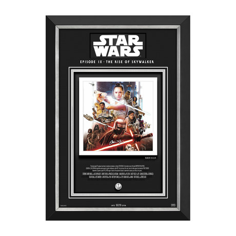 The Rise Of Skywalker // Limited Edition Display // Etched Facsimile Signatures
