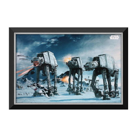 Battle Of Hoth // Star Wars Ep V The Empire Strikes Back // Framed Canvas