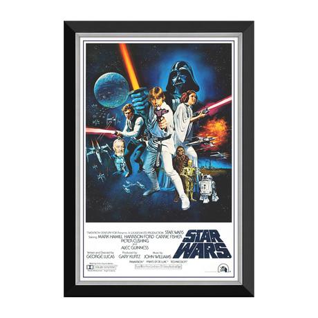 Star Wars Ep IV A New Hope // Blasters Vintage Movie Poster // Framed Canvas