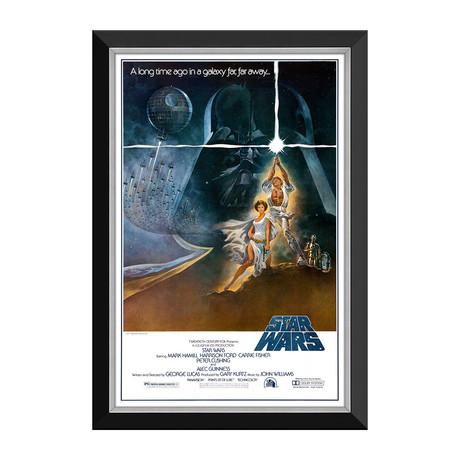 Star Wars Ep IV A New Hope // Lightsaber Vintage Movie Poster // Framed Canvas