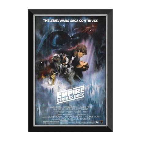Star Wars Ep V The Empire Strikes Back // Movie Poster // Framed Canvas