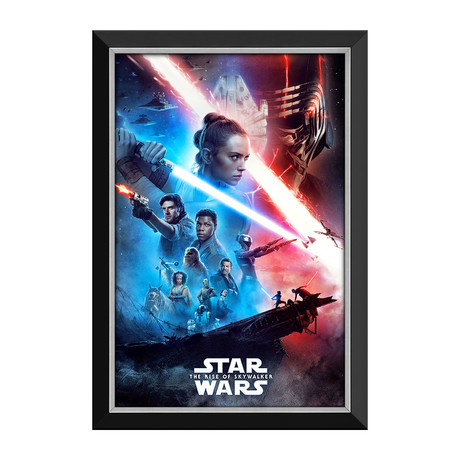 Star Wars Ep IX The Rise Of Skywalker // Official Movie Poster // Framed Canvas
