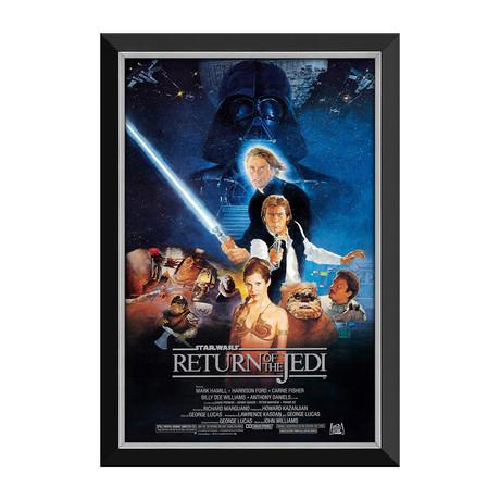 Star Wars Ep VI Return Of The Jedi // Vintage Movie Poster // Framed Canvas