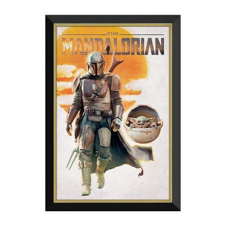 The Mandalorian // Mando & Baby Yoda Framed Canvas